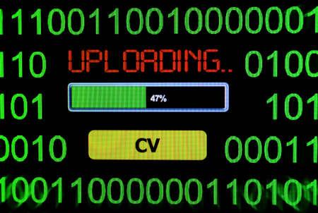 cv: Uploading CV concept