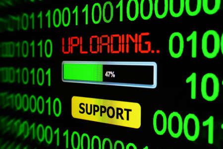 uploading: Uploading support Stock Photo