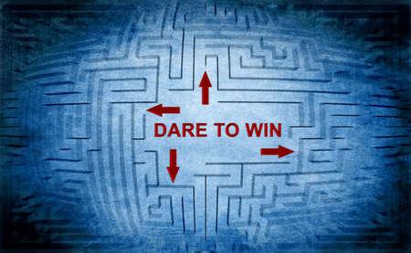 dare: Dare to win Stock Photo