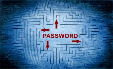 password: Contraseña concepto laberinto