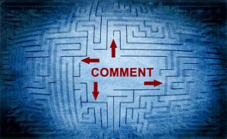 comment: Comment maze concept