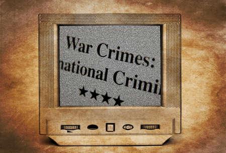 war crimes: War crimes on TV screen