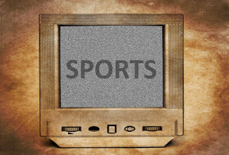 retro tv: Sports sign on vintage tv