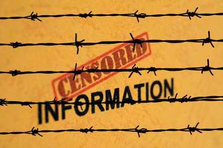 censored: Censored information Stock Photo