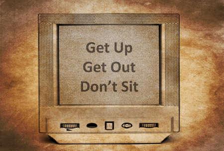 get up: Vintage TV concept