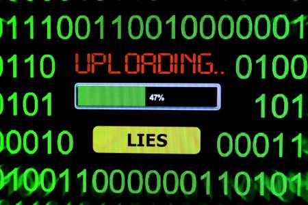 spy ware: Upload lies