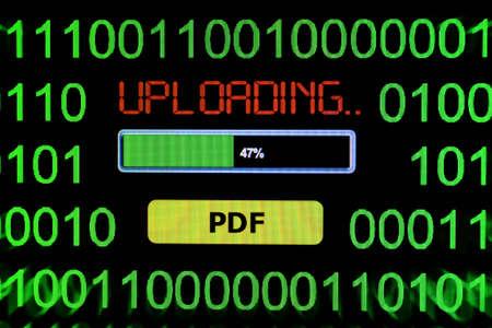 pdf: Upload PDF Stock Photo