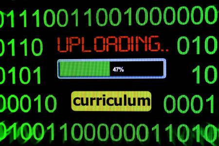 curriculum: Upload curriculum Stock Photo