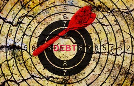 debt collection: Debt target concept Stock Photo