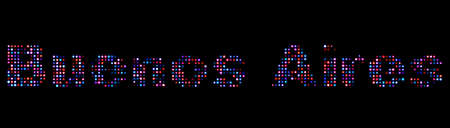 aires: Buenos Aires led text