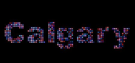 calgary: Calgary led text Stock Photo
