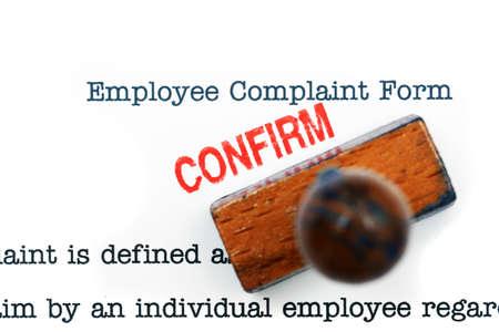 complaint: Employee complaint form - confirm