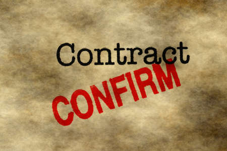 sign contract: Contract - confirm