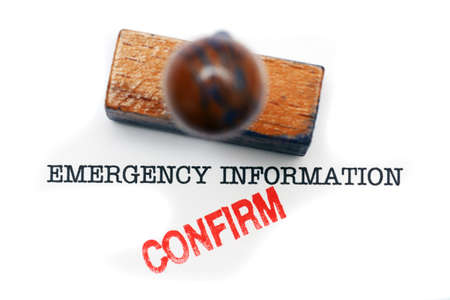 confirm: Emergency information - confirm