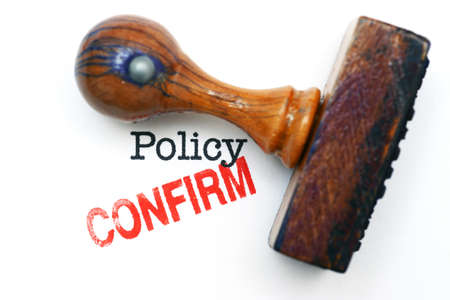 reimbursement: Stamp confirm on policy