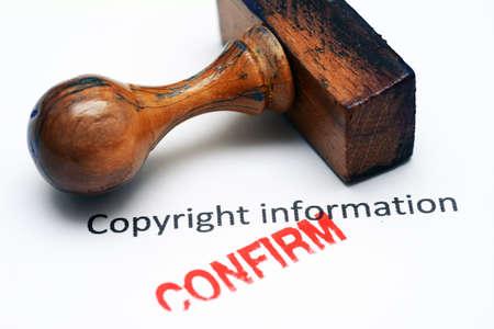 confirm confirmation: Copyright info confirm