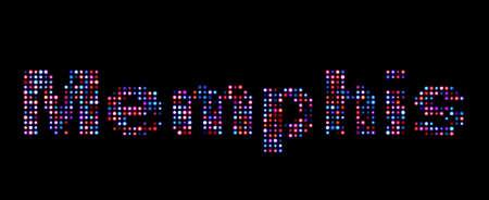 memphis: Memphis led text