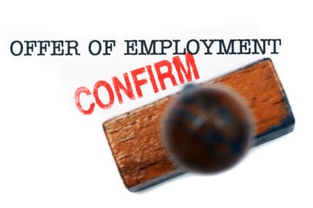 confirm: Offer of employment - confirm