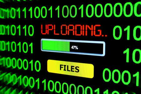 Upload files Stock Photo
