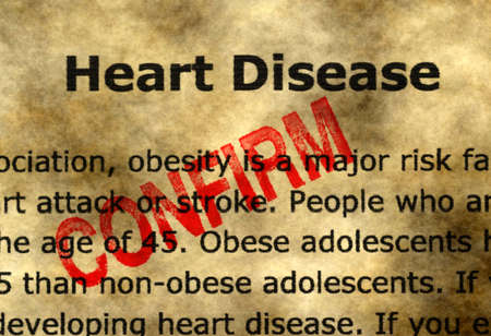 confirm: Heart disease - confirm Stock Photo