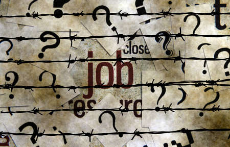 point of demand: Job and question mark concept