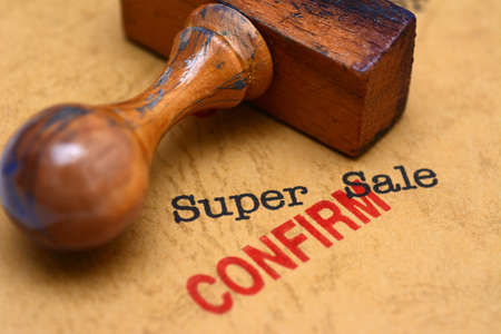 confirm: Super sale - confirm
