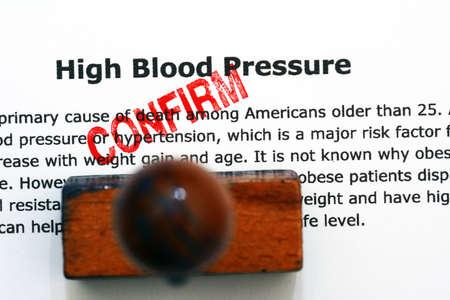 healthy arteries: High blood pressure - confirm