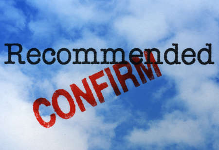 confirm: Recommended confirm