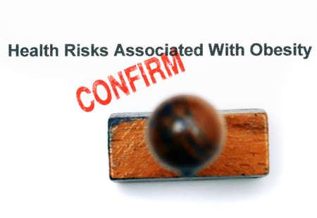 health risk: Obesity health risk Stock Photo