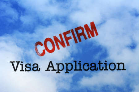 immigrate: Visa application - confirm Stock Photo