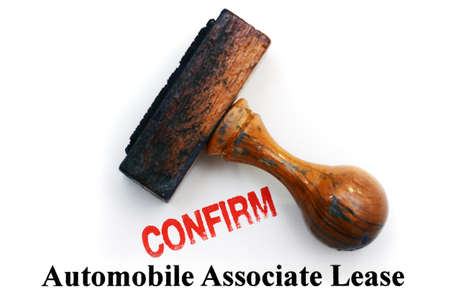 lease: Automobile lease - confirm Stock Photo