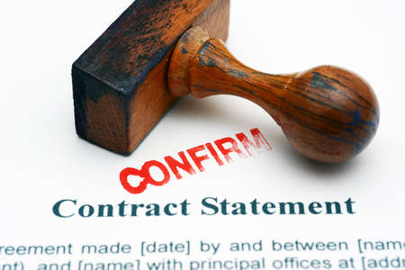 statement: Contract statement - confirm