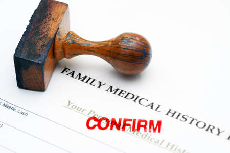 medical history: Family medical history - confirm Stock Photo