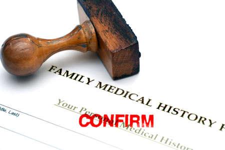 Family medical history photo