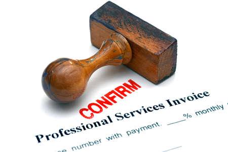confirm confirmation: Service invoice