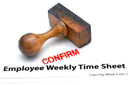 timekeeping: Employee time sheet