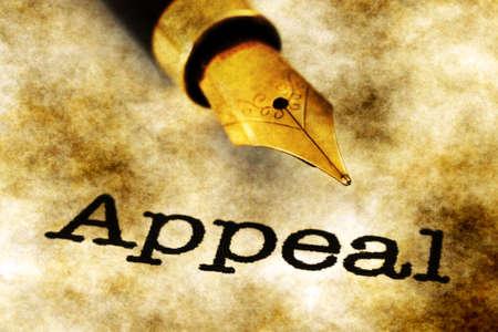 instigator: Appeal text on grunge background