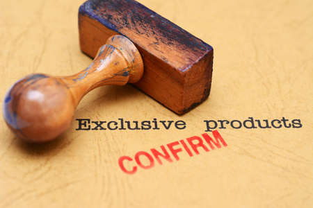 Exclusive products Stock Photo