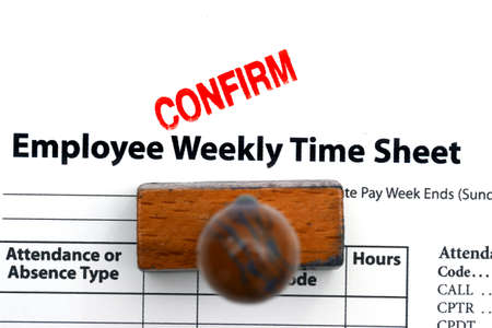 customer records: Employee time sheet