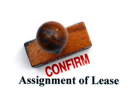 leases: Assignment of lease Stock Photo