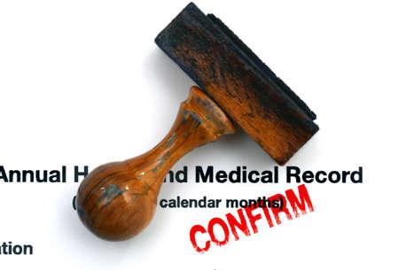 historia clinica: Historial m�dico Foto de archivo