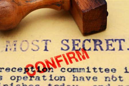 most: Most secret confirm