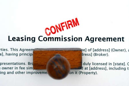 leasing: Leasing commission agreement Stock Photo