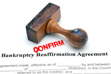 bankruptcy: Bankruptcy agreement Stock Photo