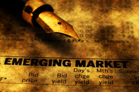 emerging market: Emerging market Stock Photo