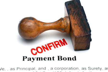 bond: Payment bond Stock Photo