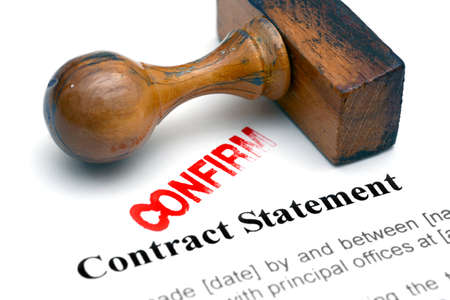 Contract statement photo