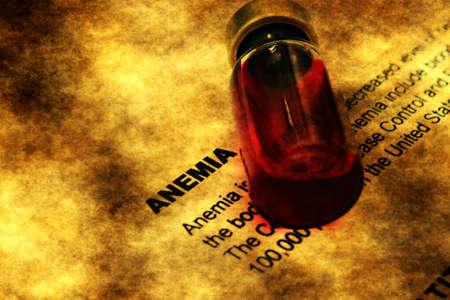 anaemia: Anemia concepto grunge Foto de archivo