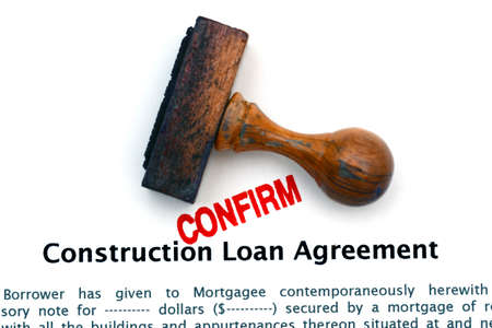 Construction Loan Agreement Stock Photo, Picture And Royalty Free