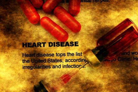 heart disease: Heart disease grunge concept